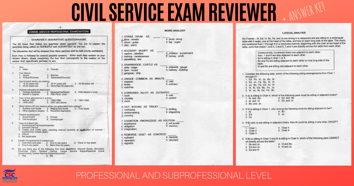ACE Civil Service Exam Reviewer