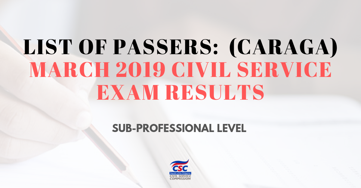 List of Passers_caraga March 2019 Civil Service Exam sub-pro