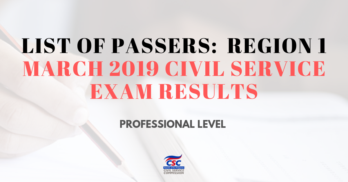 List of Passers_region 1 March 2019 Civil Service Exam pro