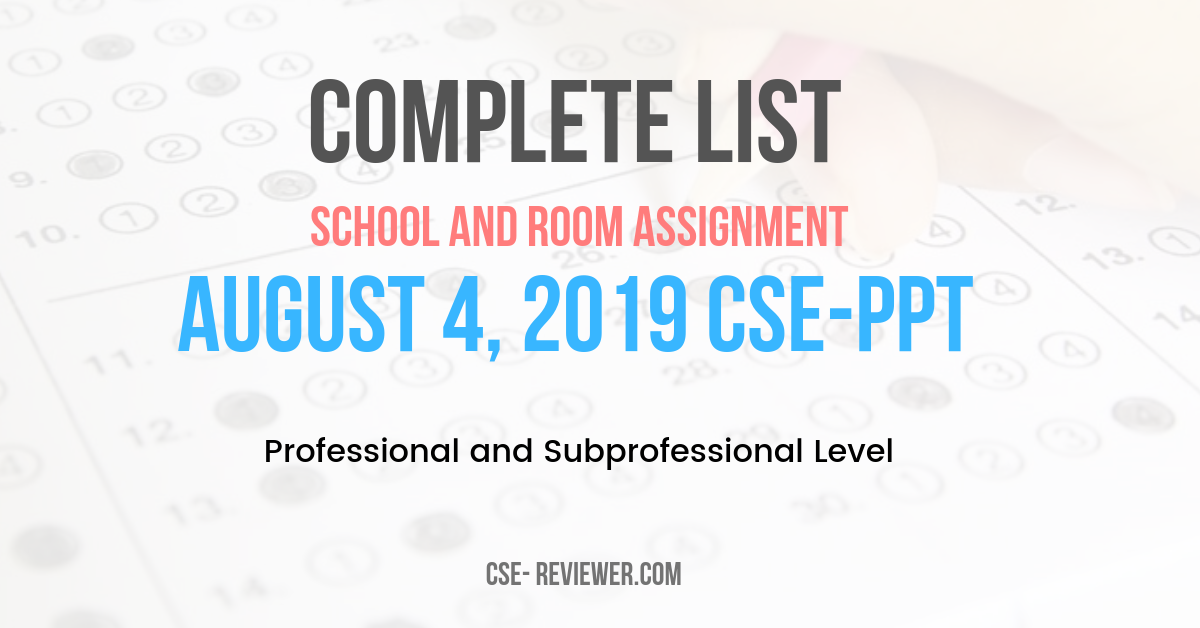 Complete List of ONSA for August 4, 2019 CSE-PPT