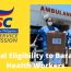 Healthcare workers eligibility